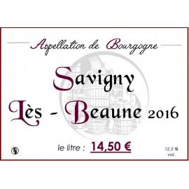 Savigny - lès - Beaune 2016 au litre