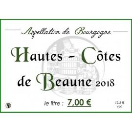 Bourgogne Hautes - Côtes de Beaune blanc 2018 au litre