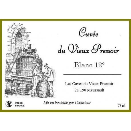 Vin  BLANC 12°  en cubitainer