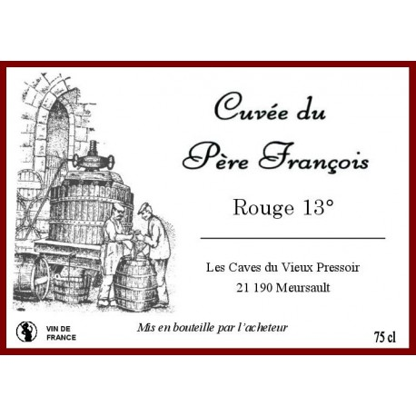 Vin ROUGE 13° en Bag in Box