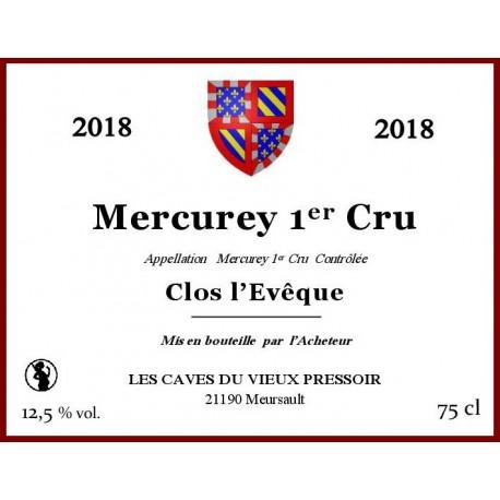 "Mercurey 1er cru ""Clos l'Evêque"" 2018 au litre"