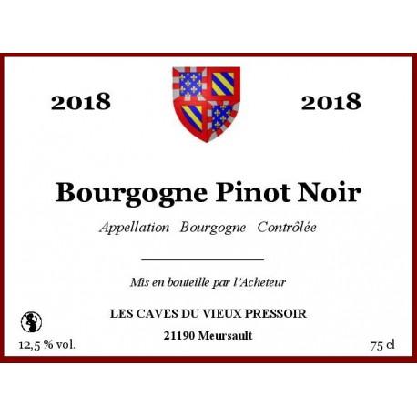 Bourgogne Pinot Noir 2017 au litre