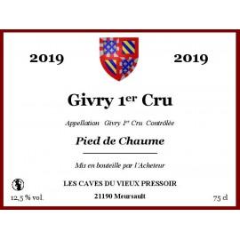 """Givry 1er Cru """"Pied de Chaume"""" 2019 au litre"""