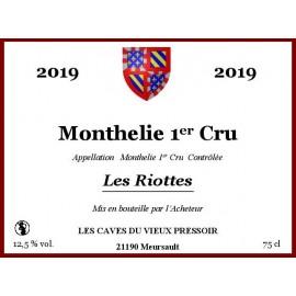 """Monthelie 1er Cru """"Les Riottes"""" 2019 au litre"""