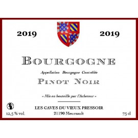 Bourgogne Pinot Noir 2012 en cubitainer